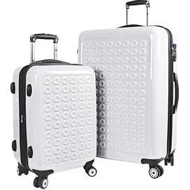 Jonit 2 Piece Luggage Set in White