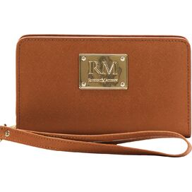 Agrippa Leather Wristlet in Brown