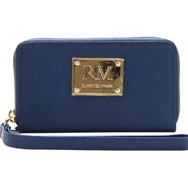 Esther Leather Wristlet in Blue
