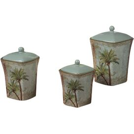 3-Piece Key West Canister Set