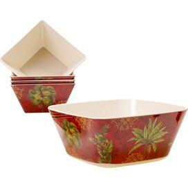 5-Piece Sunset Palm Bowl Set