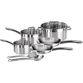 10-Piece Elegance Stainless Steel Cookware Set