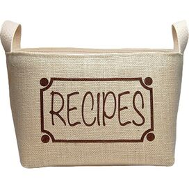 Recipes Storage Bin