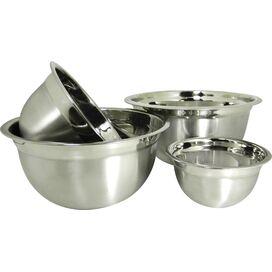 4-Piece Euro Stainless Steel Mixing Bowl Set