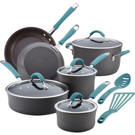 Rachael Ray 12-Piece Cucina Cookware Set in Agave Blue