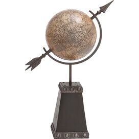 Pedestal Globe Decor