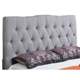 Aspen Upholstered Full Headboard in Grey