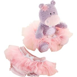 Lady Lulu Plush Hippo with Bloomer