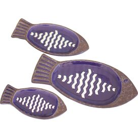 3-Piece Fish Dish Set