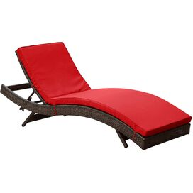 Evelyn Patio Chaise in Red (Set of 2)