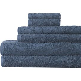 6-Piece Casablanca Egyptian Cotton Towel Set in Mad Blue