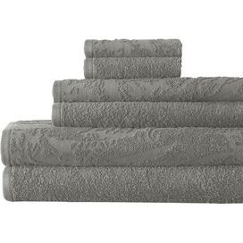6-Piece Casablanca Egyptian Cotton Towel Set in Gray