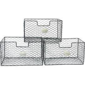 3-Piece Wire Storage Bin Set