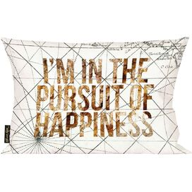 Pursuit of Happiness Pillow, Oliver Gal