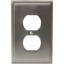 Oliver Outlet Wall Plate in Satin Nickel