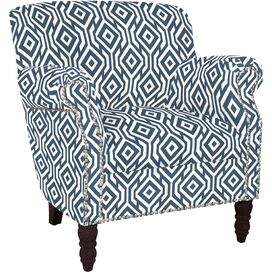 Carissa Arm Chair in Midnight Blue