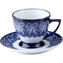 8-Piece Tile Teacup & Saucer Set (Set of 4)