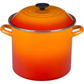 Le Crueset Stainless Steel Stock Pot in Flame