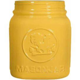 Farmhouse Porcelain Vase in Yellow