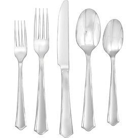 45-Piece Barberry Stainless Steel Flatware Set