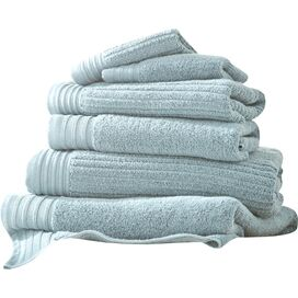 6-Piece Egyptian Cotton Towel Set in Soft Blue