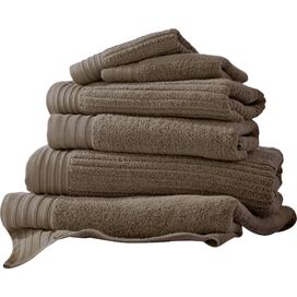 6-Piece Egyptian Cotton Towel Set in Mocha