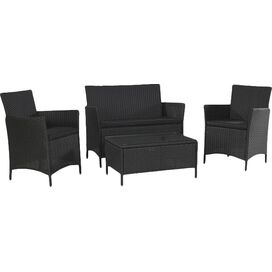 4-Piece Jamaica Patio Seating Group in Black