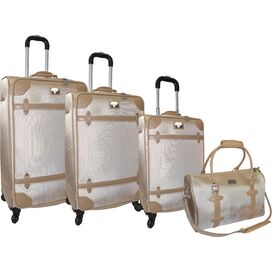 4-Piece Adrienne Vittadini Rolling Luggage Set