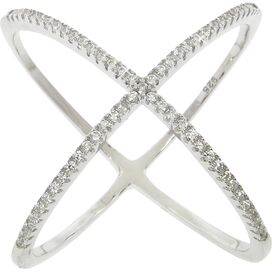 Sterling Silver Pave Cage Ring