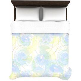 Paper Flower Duvet Cover in Blue & Yellow