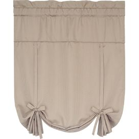 Tie-Up Rod Pocket Shade in Taupe