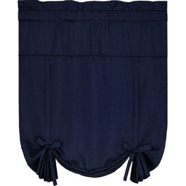 Tie-Up Rod Pocket Shade in Navy