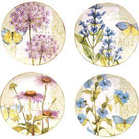 Herb Garden Dinner Plate (Set of 4)
