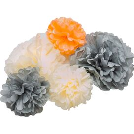 5-Piece Paper Pompom Set (Set of 5)