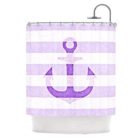 Sea-Loving Shower Curtain in Purple