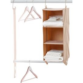 Hanging Double Rod Closet Organizer