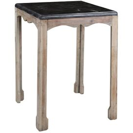 Amsler Side Table in Gray Wash