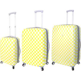 3-Piece Mandi Rolling Luggage Set in Yellow