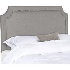 Shelagh Upholstered Full Headboard in Arctic Grey