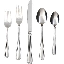 60-Piece Allure Stainless Steel Flatware Set