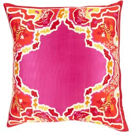 Magda Silk Pillow in Light Magenta