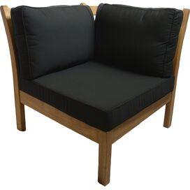 Kamea Patio Corner Chair in Black