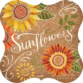 Sunflower Cork Trivet (Set of 2)