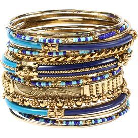 Monaco Bangle Set in Blue & Turquoise