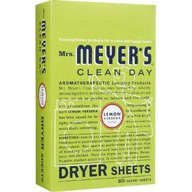 Mrs. Meyer's Lemon Verbena Dryer Sheet Pack