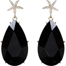 Hamptons Star Earrings in Jet Black