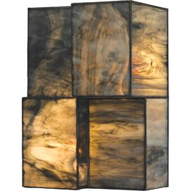 Block LED Wall Sconce in Dusk Sky