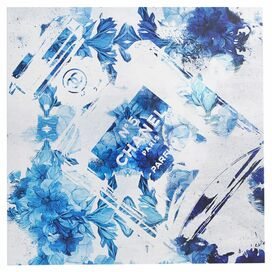 Blue Flower Scent Canvas Print, Oliver Gal
