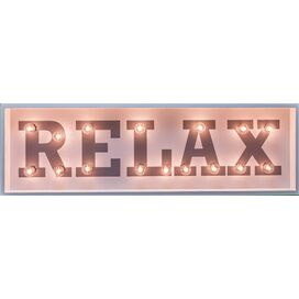 Relax Marquee Sign