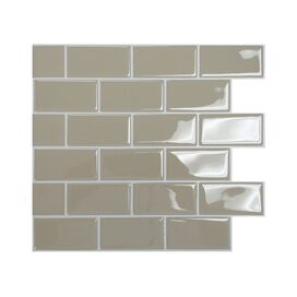 Glossy Subway Tile in Sand